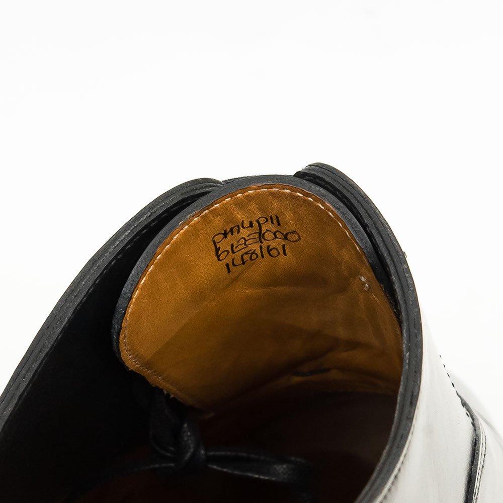 ジョンロブ PHILIP II【フィリップ2】内羽根パンチドキャップトゥ ブラック プレステージライン サイズ6EE
