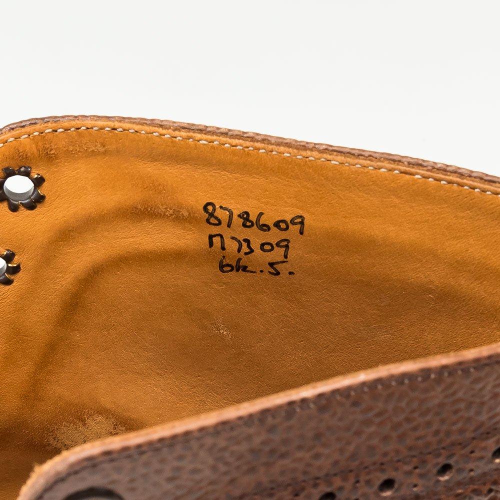 トリッカーズ M7309 カントリーブーツ ウイングチップ ダークブラウン グレインレザー サイズ6.5Fitting5