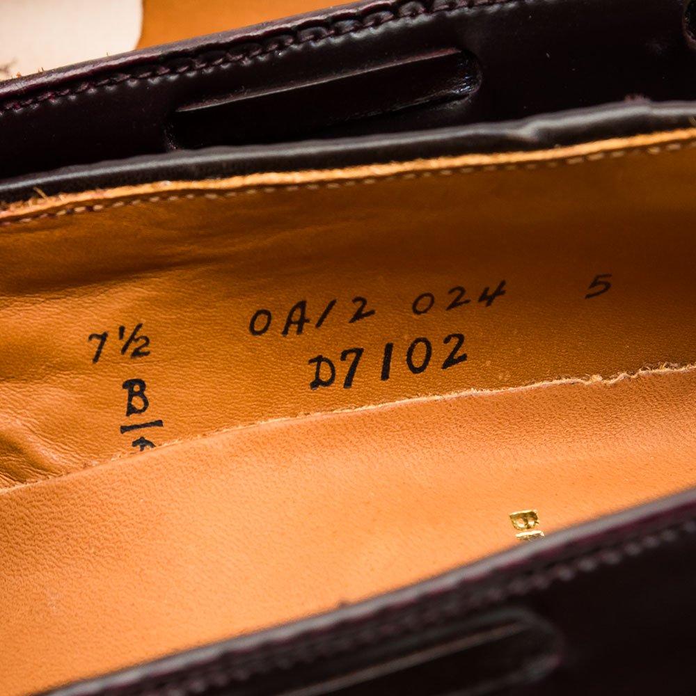 オールデン D7102 タッセルローファー バーガンディ コードバン Brick+Mortar別注 サイズ7.5D