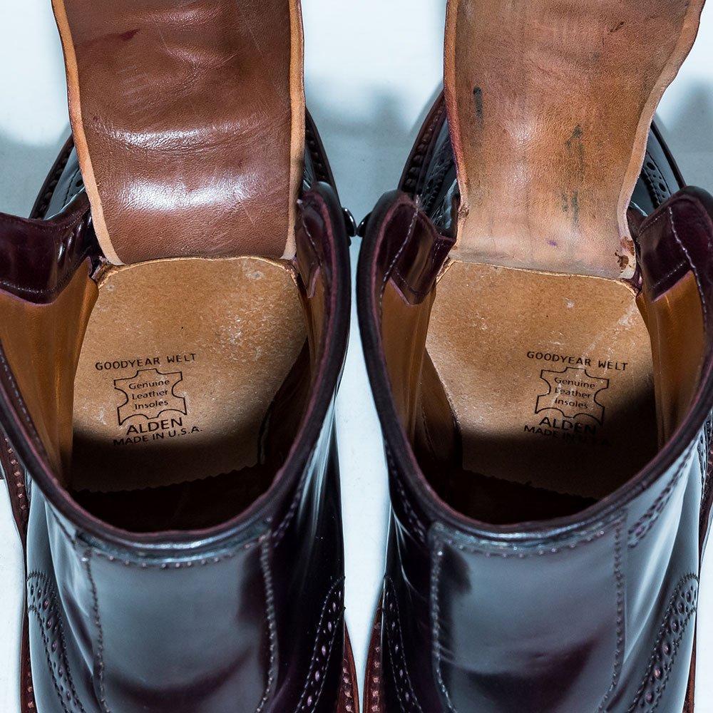 オールデン D7804HC ウイングチップ ブーツ バーガンディ コードバン リジェクト品 サイズ7.5D
