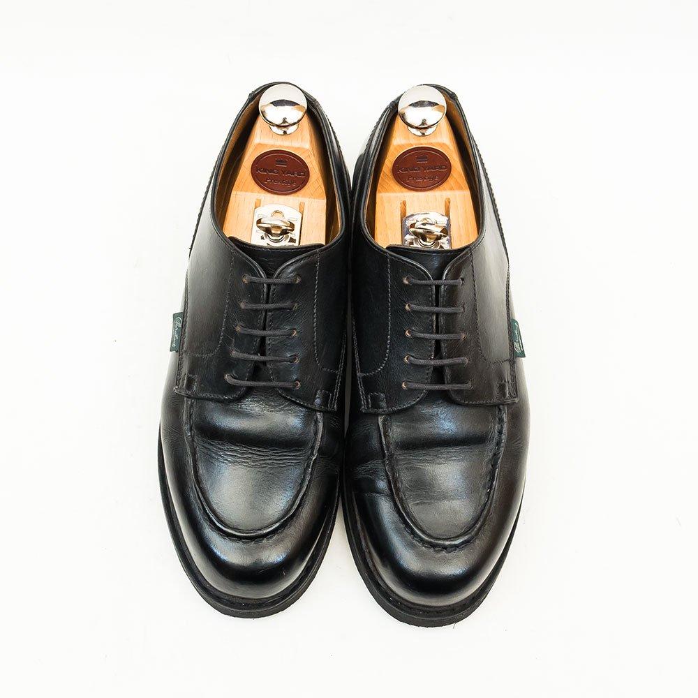 パラブーツ CHAMBORD【シャンボード】Uチップ ブラック リスレザー サイズ5F