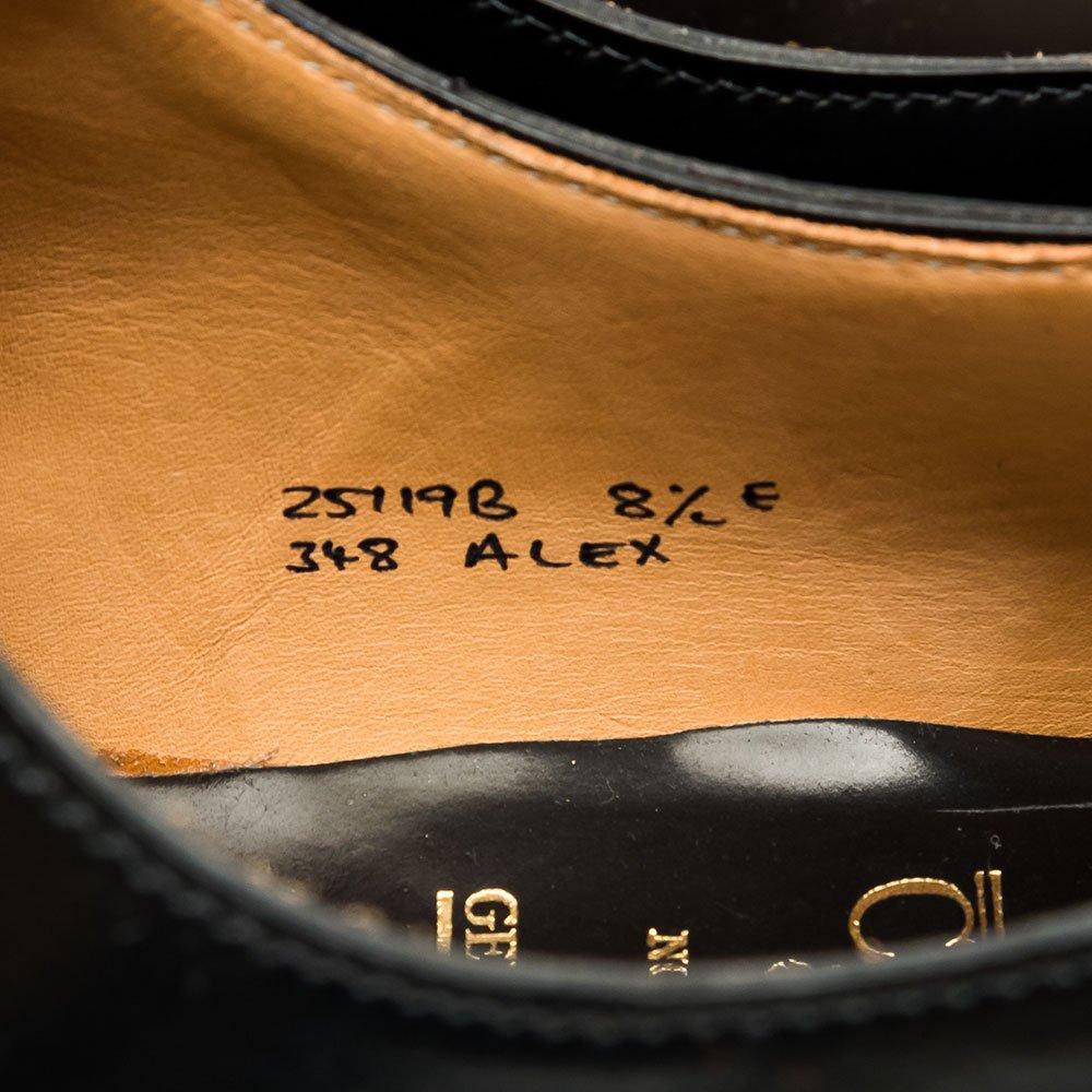 クロケット&ジョーンズ ALEX【アレックス】内羽根ホールカット ブラック コードバン 伊勢丹限定 サイズ8.5E