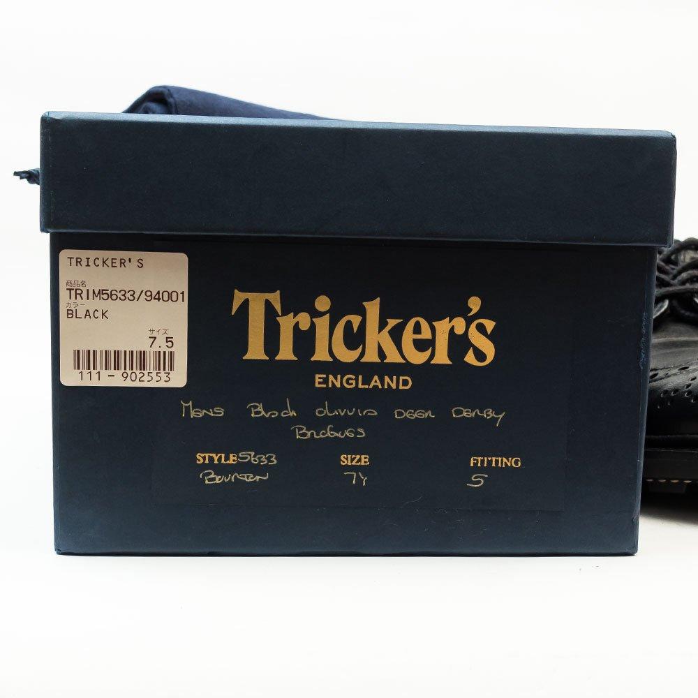 トリッカーズ BOURTON(バートン)ウィングチップ ブラック オリヴィア ワインハイマー サイズ7.5
