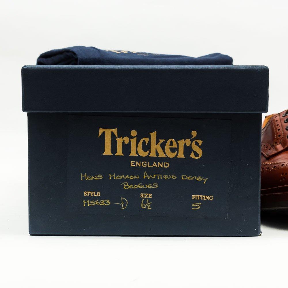 トリッカーズ M5633 BOURTON(バートン)ウイングチップ マロン サイズ6.5Fitting5