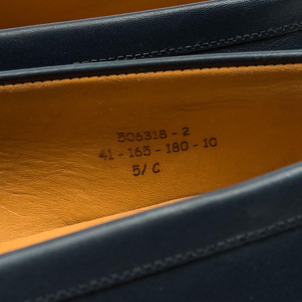 ジェイエムウエストン 180 シグニチャーローファー ネイビー サイズ5.5C
