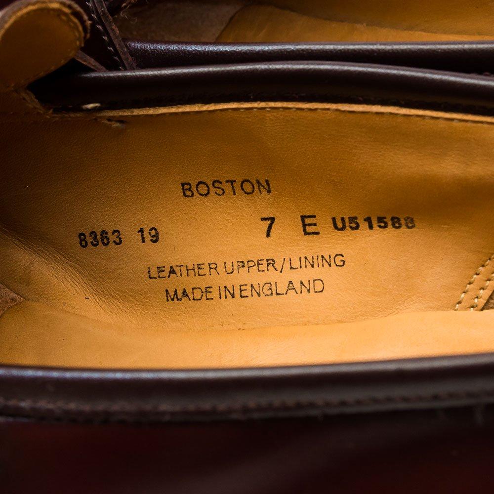 クロケット&ジョーンズ Boston(ボストン)ローファー バインダーカーフ バーガンディ  サイズ7E