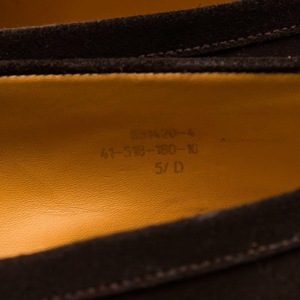 ジェイエムウエストン 180 シグニチャーローファー ダークブラウン スエード サイズ5.5D