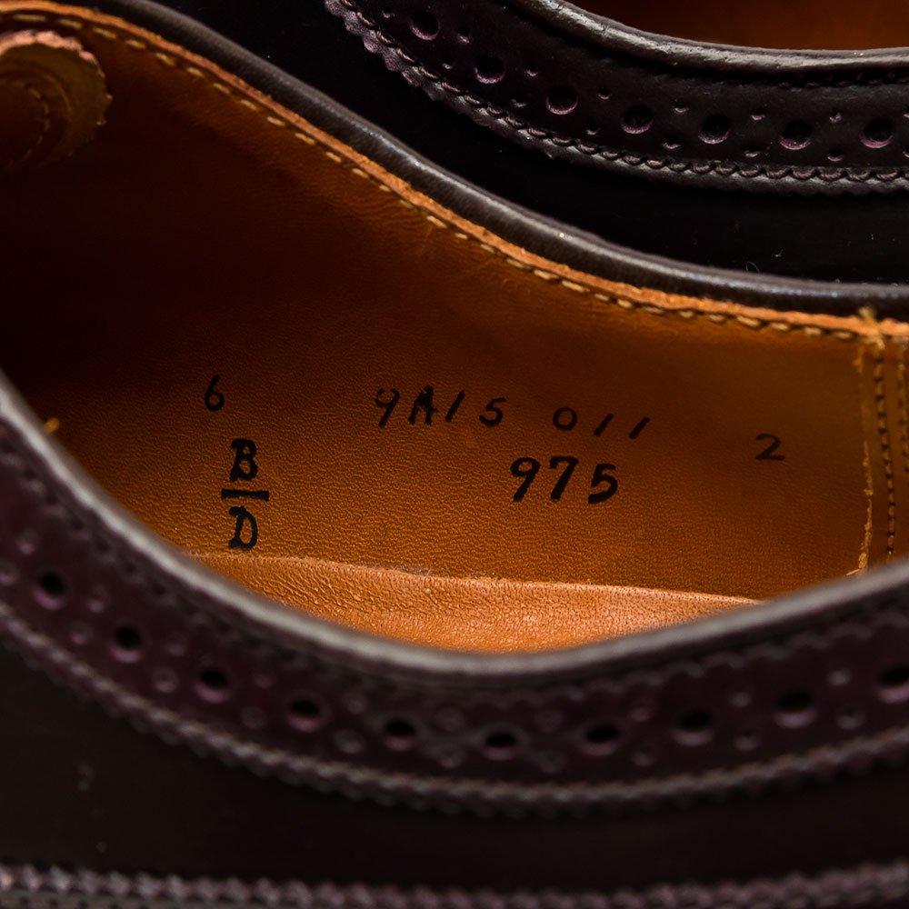 オールデン 975 ロングウイングチップ コードバン バーガンディ サイズ6D