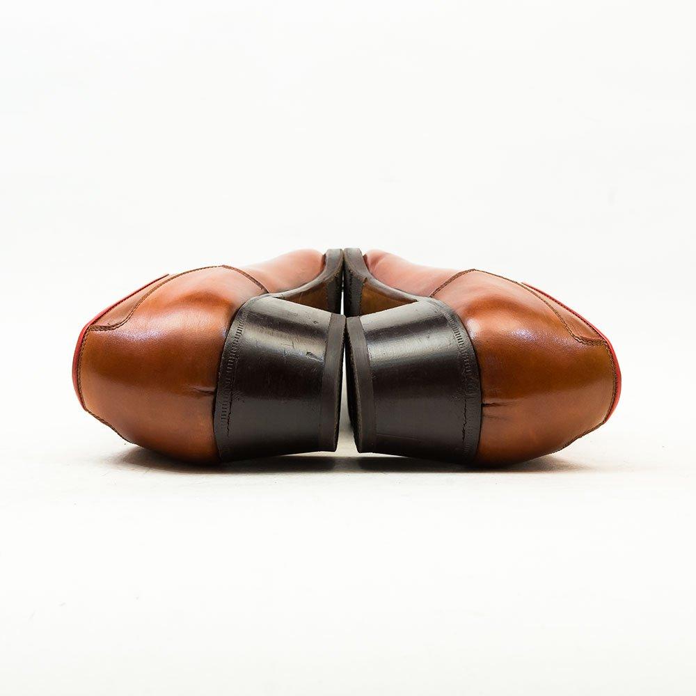 レユッカス Uチップ キルトタン ブラウン レディース エンツォボナフェ製造 サイズ37