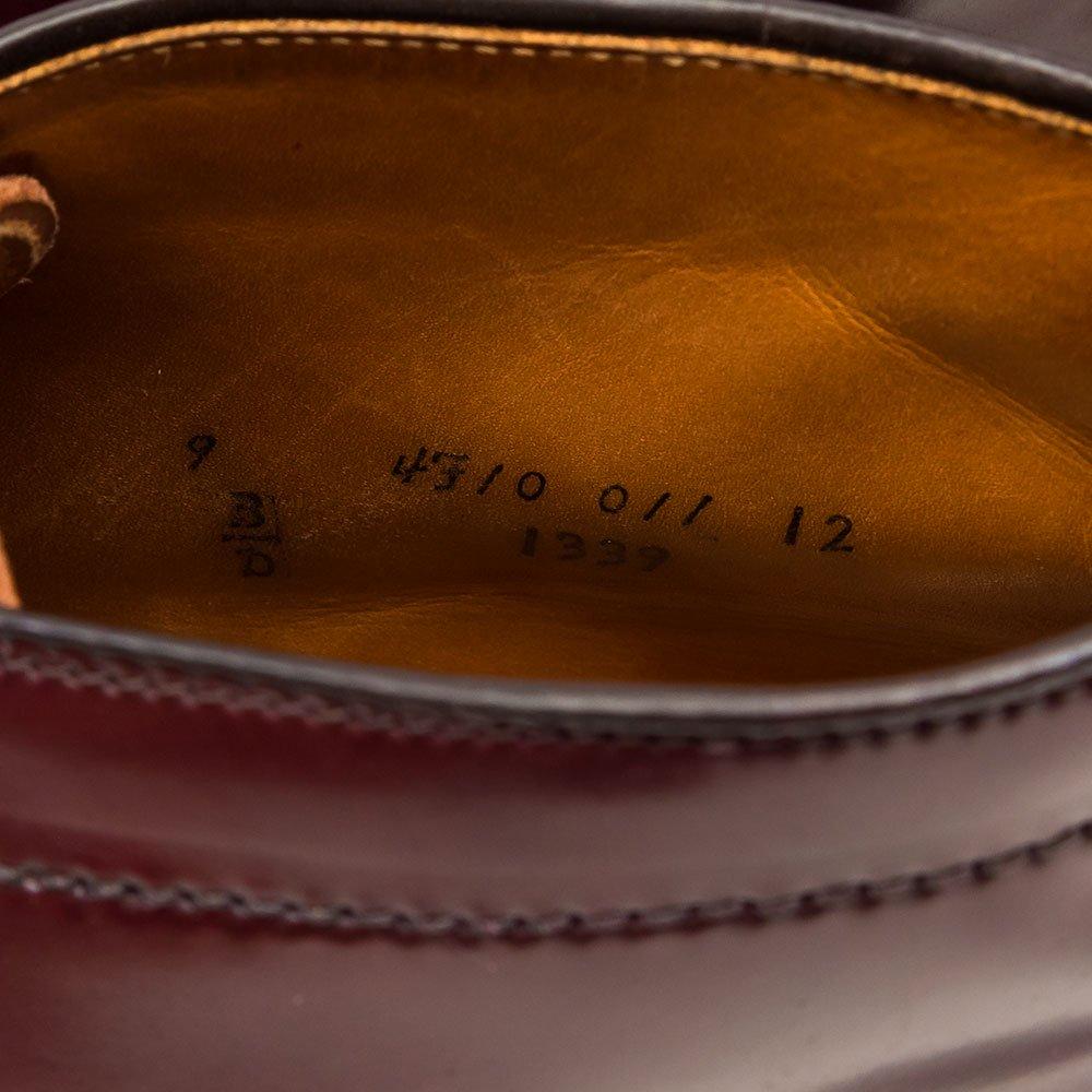 オールデン 1339 チャッカブーツ コードバン バーガンディ サイズ9D