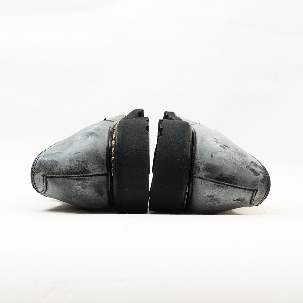 パラブーツ ARLES(アルル)外羽根プレーントゥ ブラック リスレザー サイズ7.5