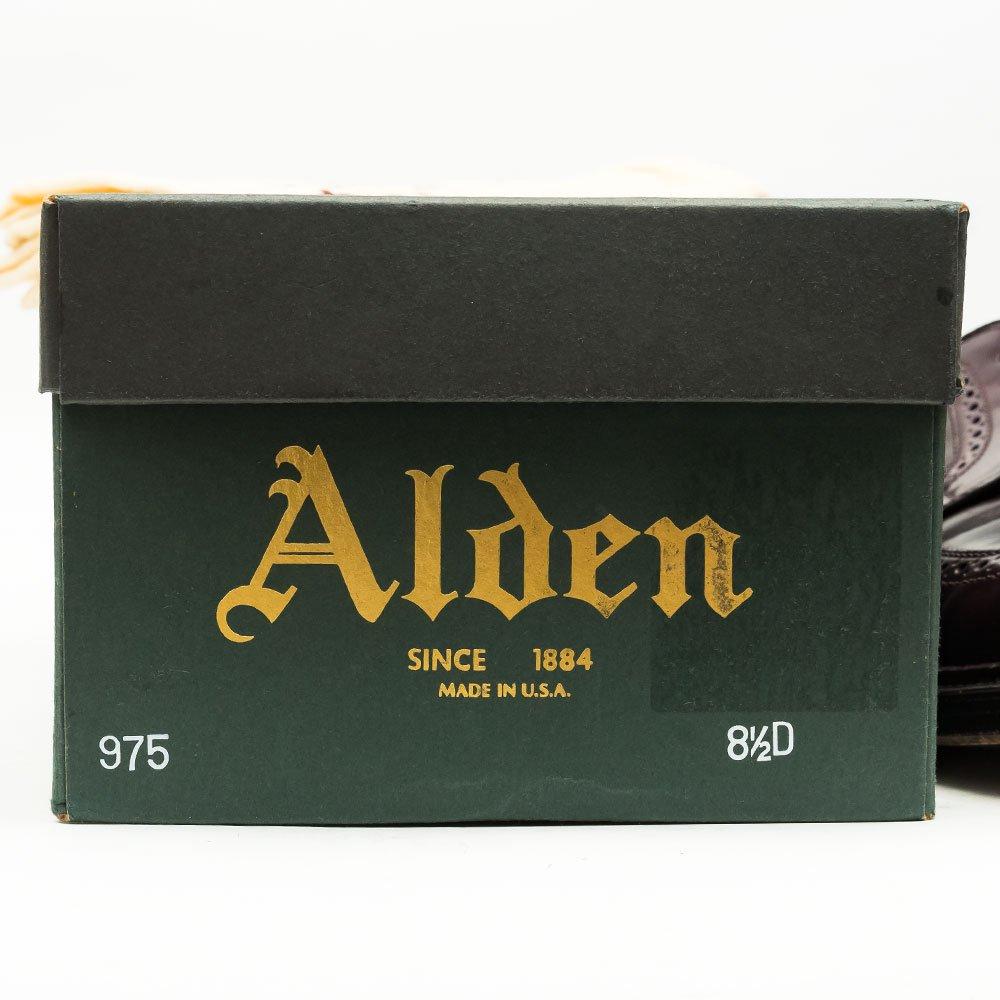 オールデン 975 ロングウイングチップ コードバン バーガンディ BEAMS PLUS別注ネーム サイズ8.5D