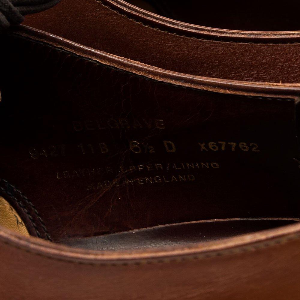 クロケット&ジョーンズ BELGRAVE(ベルグレーブ)内羽根パンチドキャップトゥ チェスナット ハンドグレード サイズ6D