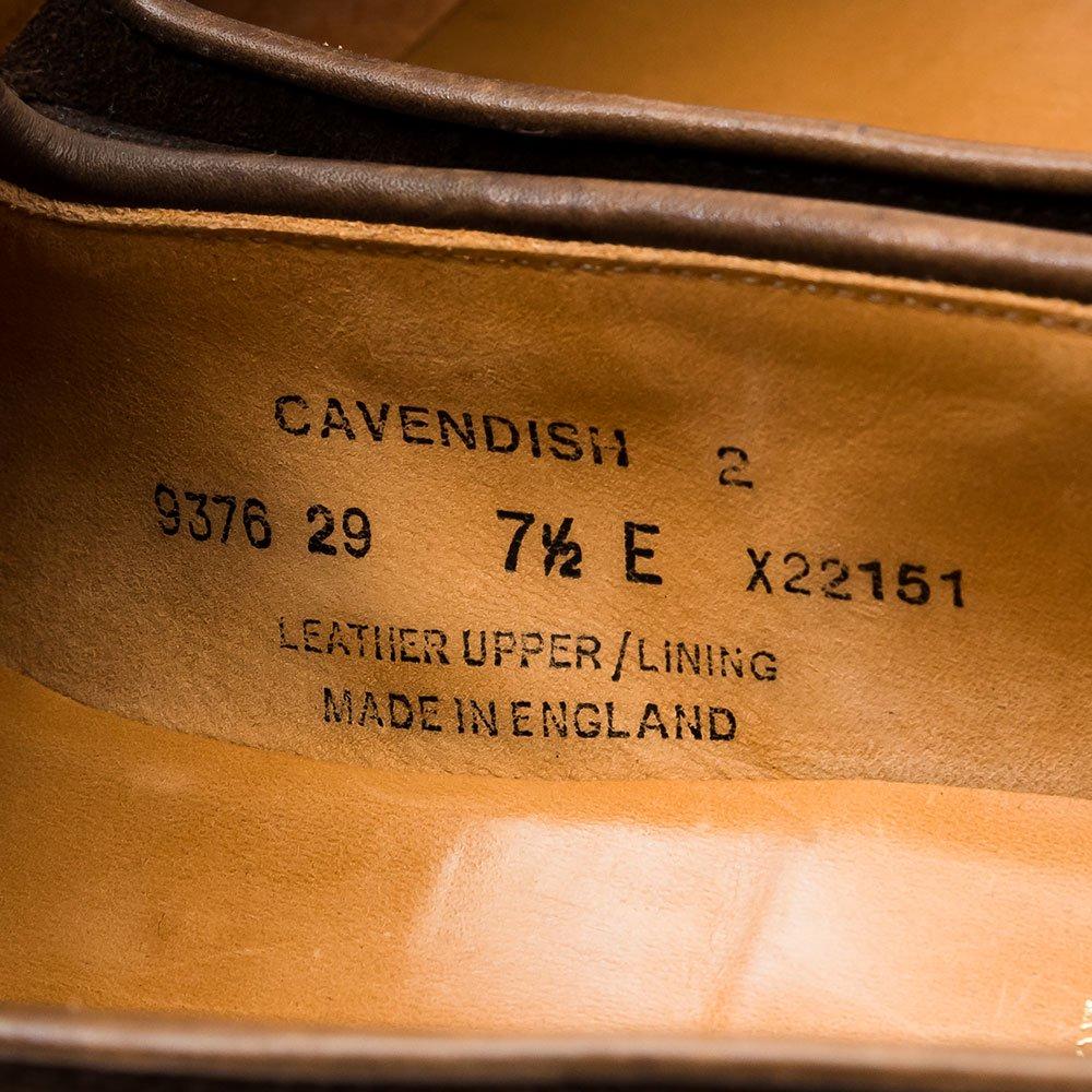 クロケット&ジョーンズ CAVENDISH2(キャベンディッシュ2)タッセルローファー ダークブラウン スエード サイズ7.5E