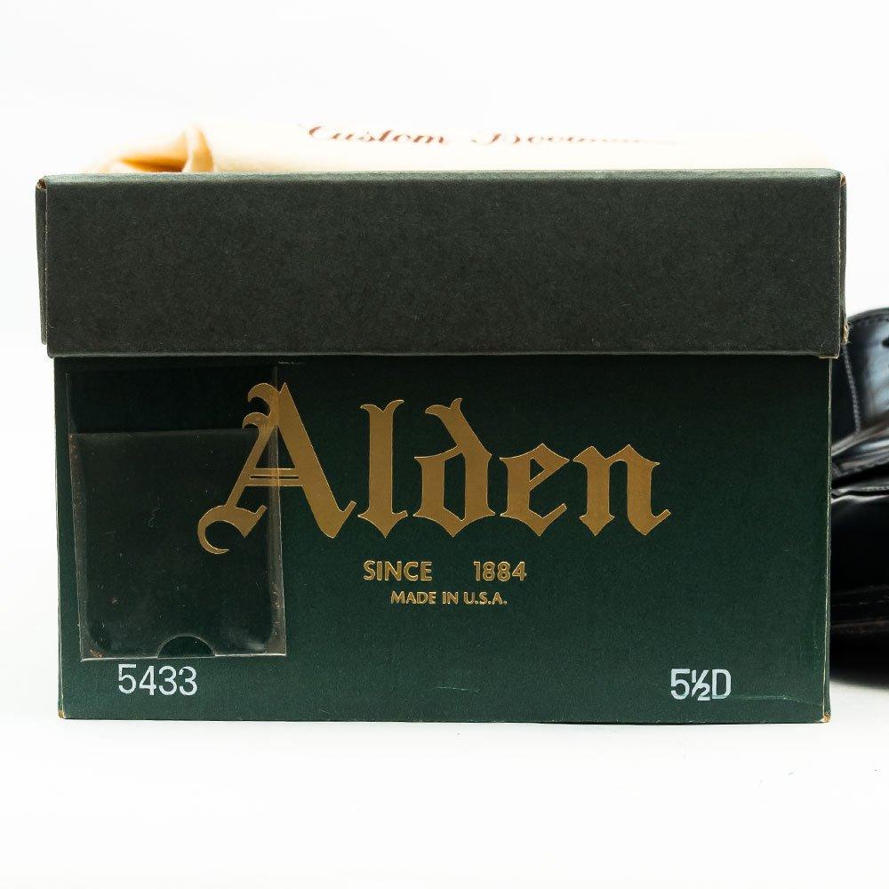 オールデン 5433 Vチップ コードバン ブラック モディファイドラスト サイズ5.5D