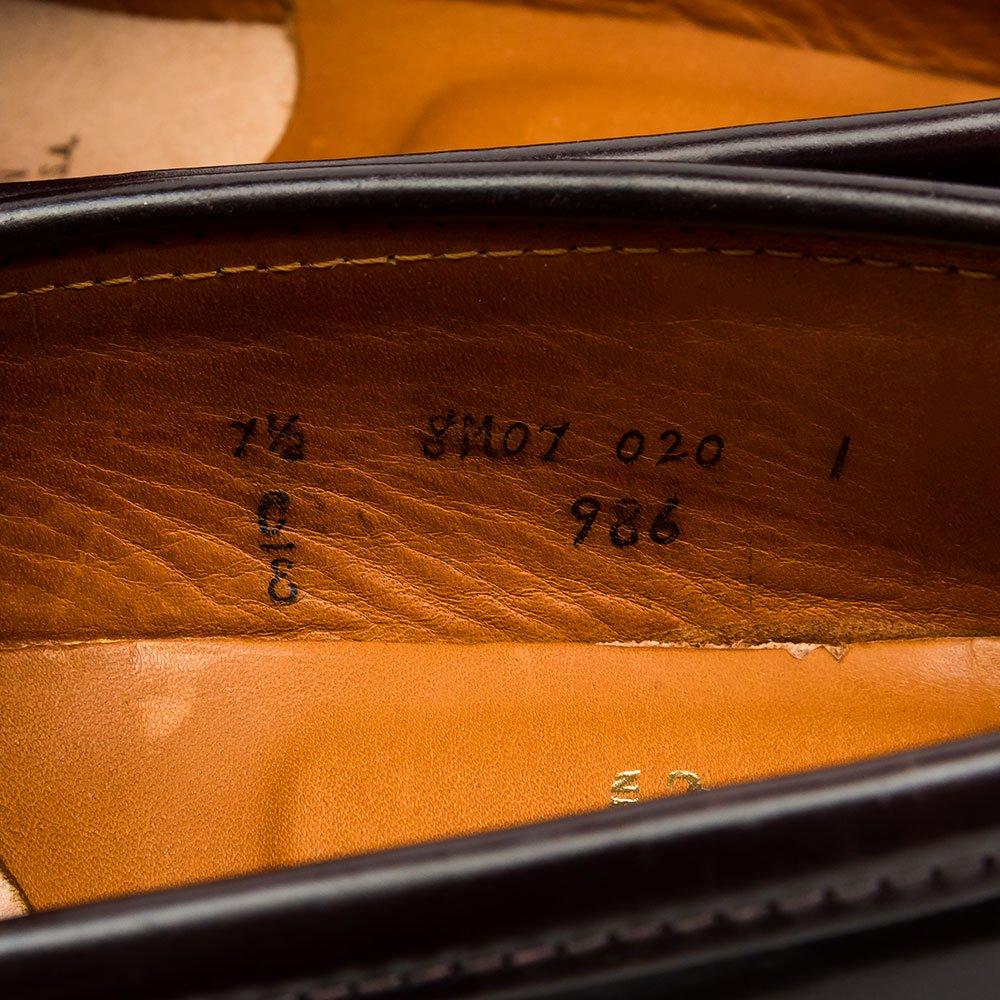 オールデン 986 コインローファー コードバン バーガンディ サイズ7.5E