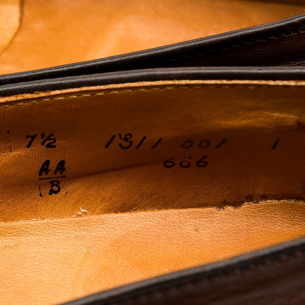 オールデン 686 コインローファー ブラウン サイズ7.5B