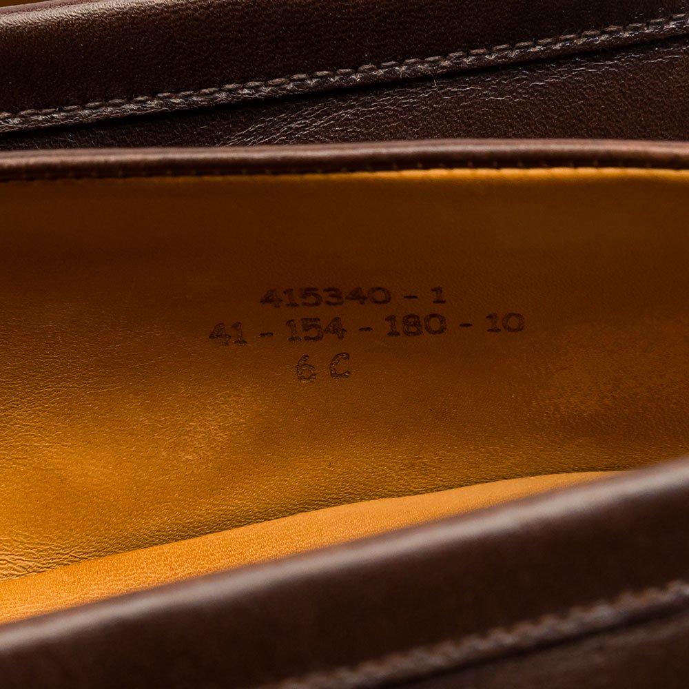 ジェイエムウエストン 180 シグニチャーローファー ダークブラウン チョコレート サイズ6C