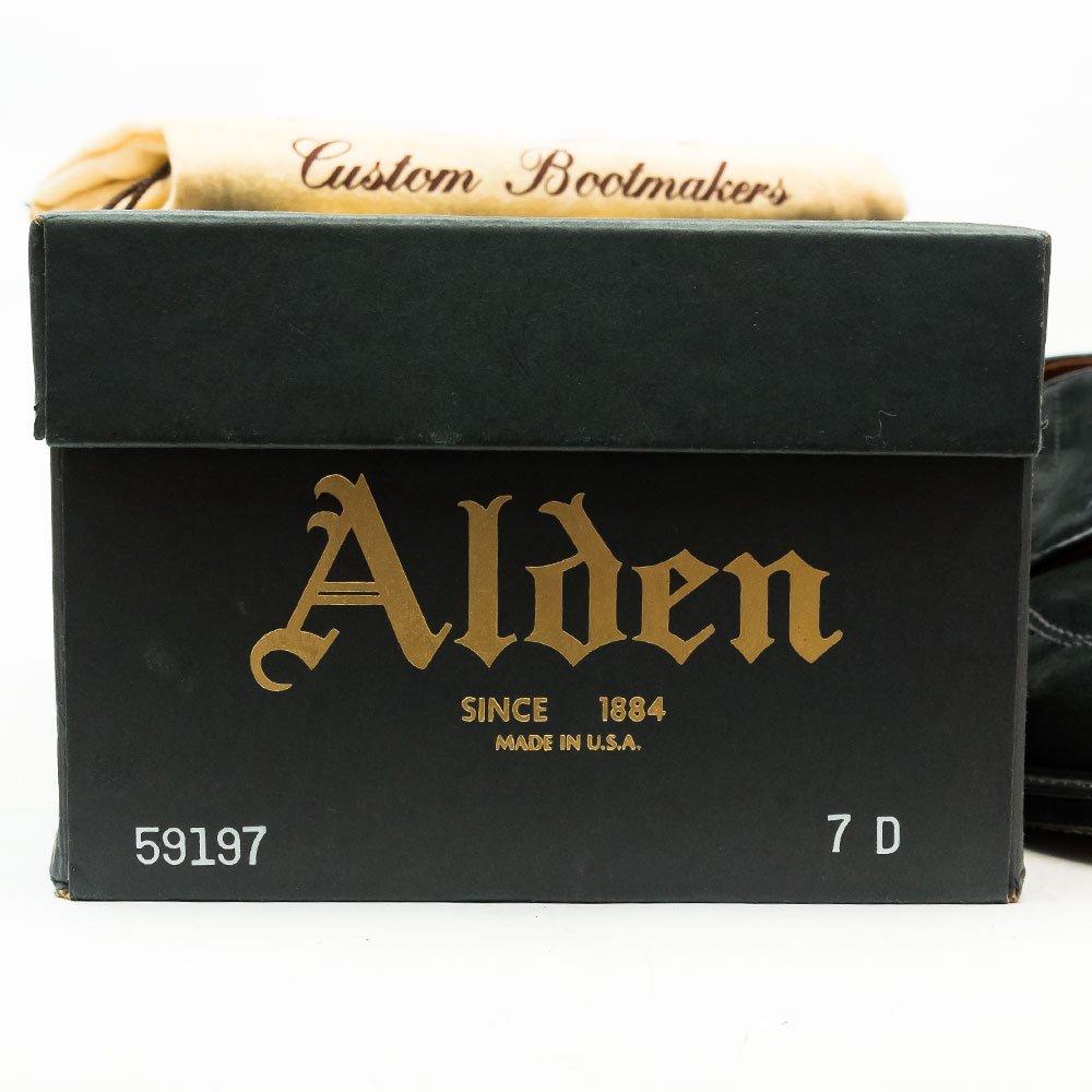 オールデン 59197 Uチップ ブラック スエード モディファイドラスト サイズ7D