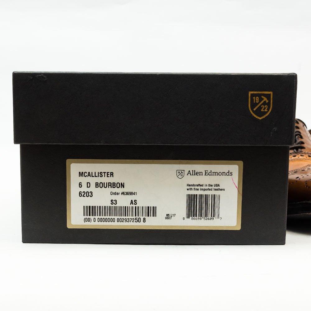 アレンエドモンズ MACALLISTER(マカリスター)ウイングチップ バーボン サイズ6D