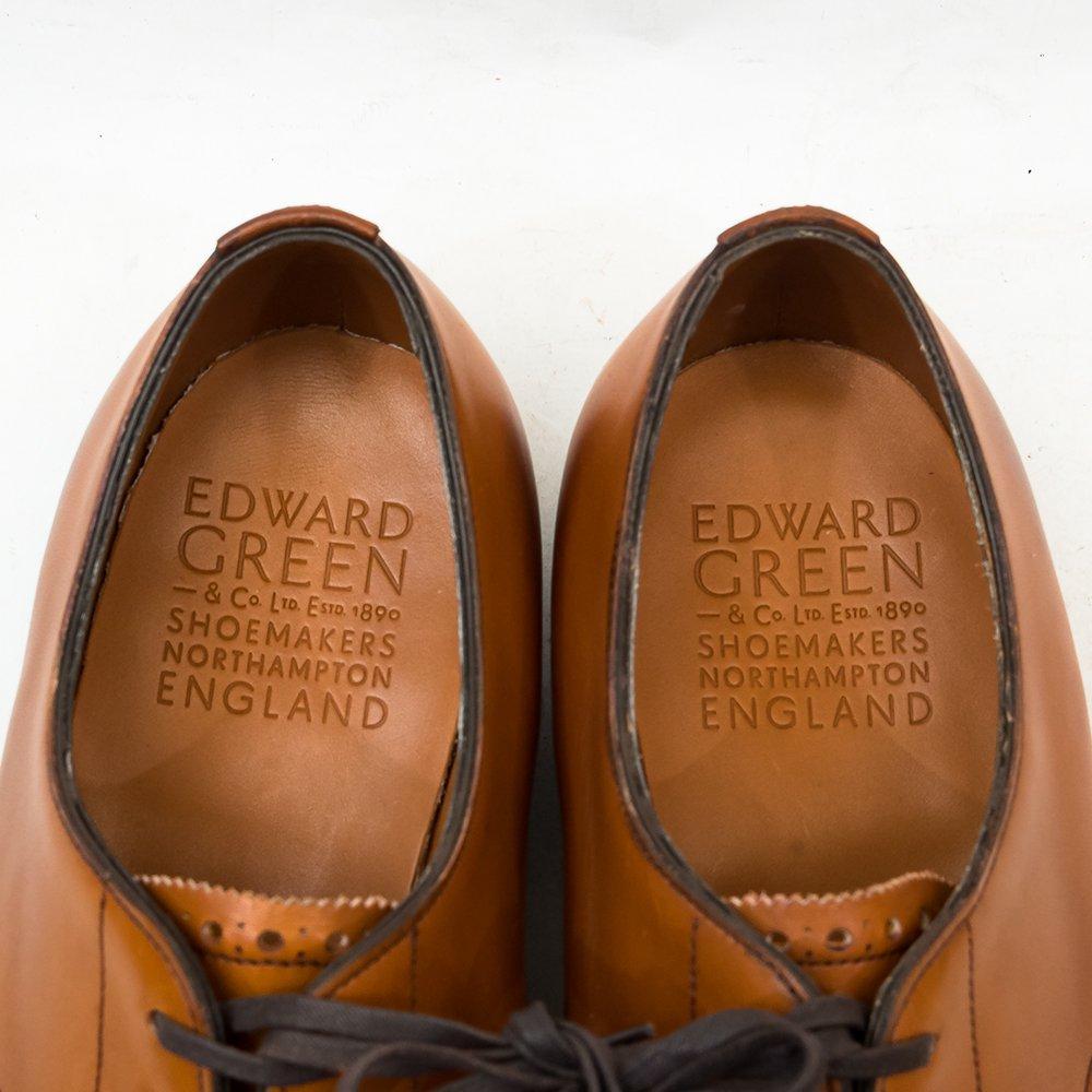 エドワードグリーン SHOREDITCH(ショーディッチ)外羽根パンチドキャップトゥ チェスナット サイズ7.5E