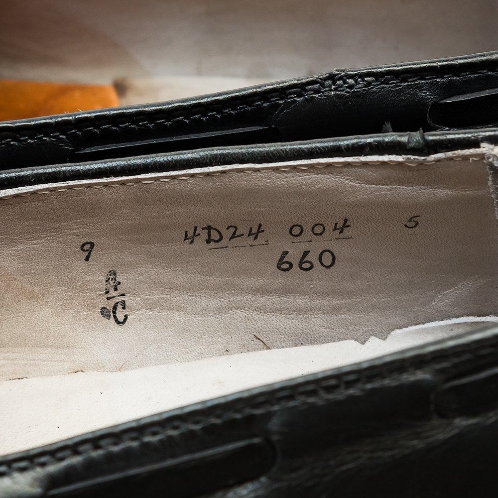 オールデン 660 タッセルローファー ブラック サイズ9C