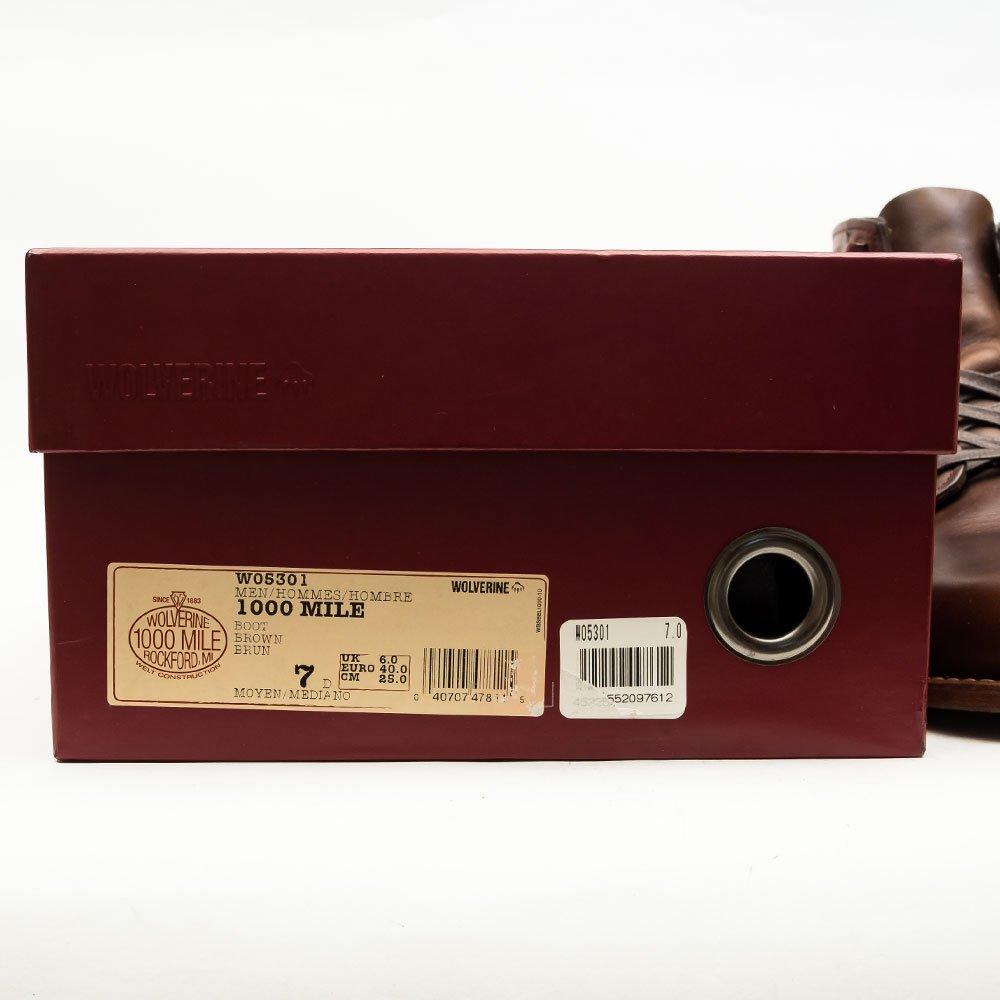 ウルヴァリン EVANS(エヴァンス)1000マイルブーツ ブラウン サイズ7D