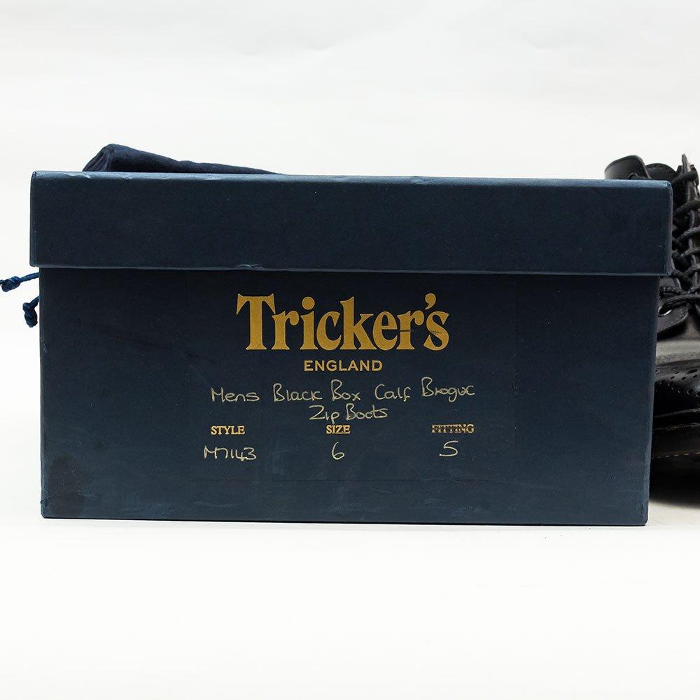 トリッカーズ M7143 カントリーブーツ サイドジップ ブラック サイズ6Fitting5