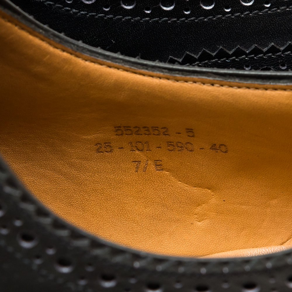 ジェイエムウエストン 590 トリプルソールダービー  カーフ ブラック サイズ7.5E