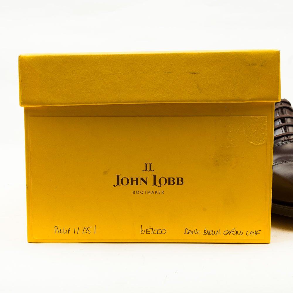 ジョンロブ PHILIP ll(フィリップ2) パンチドキャップトゥ ダークブラウン プレステージ 黄色箱 サイズ6E