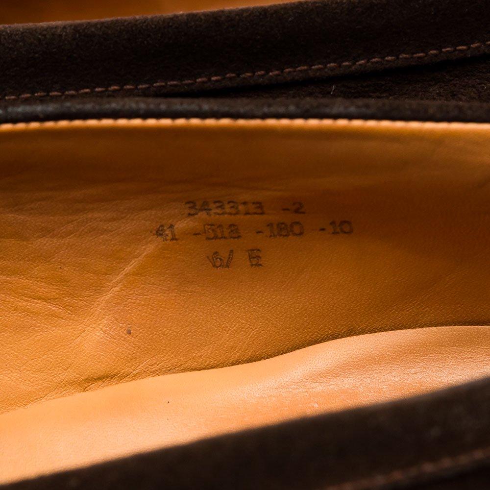 ジェイエムウエストン 180 シグネイチャーローファー ダークブラウン スエード サイズ6.5E