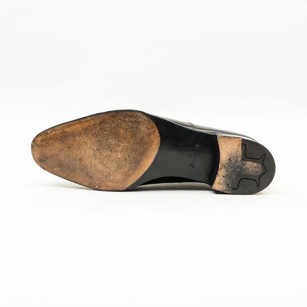 ジョンロブ PHILIPII(フィリップ2)パンチドキャップトゥ ブラック サイズ7.5E