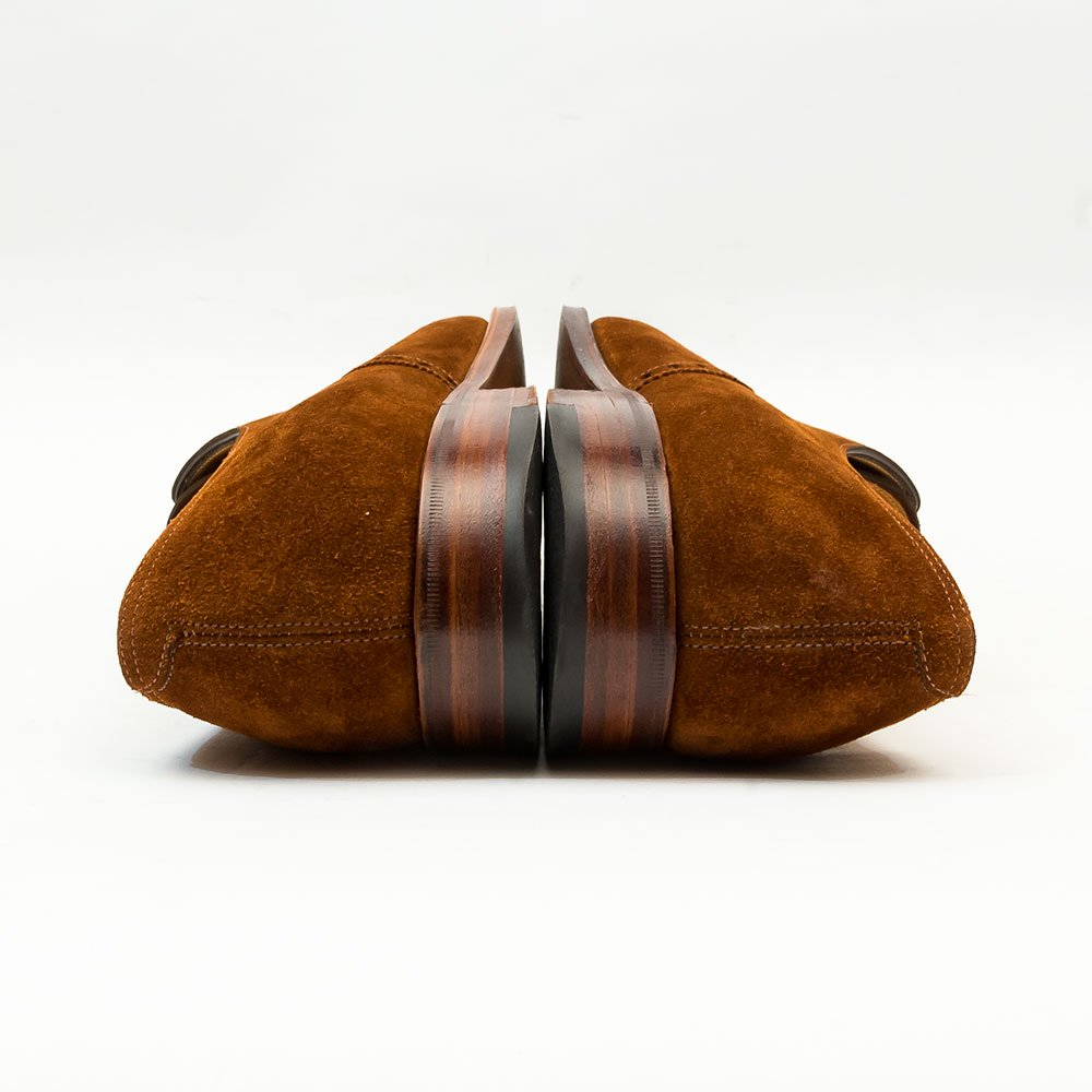 ジョンロブ AVON(エイボン) パンチドキャップトゥ タバコスエード 茶箱 サイズ6.5E