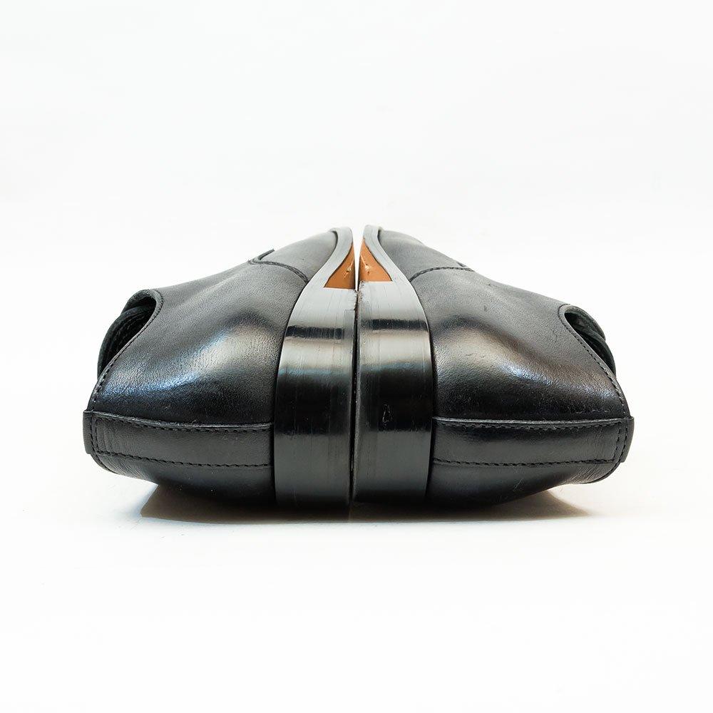 パドローネ PU7358 外羽根プレーントゥ ブラック サイズ42