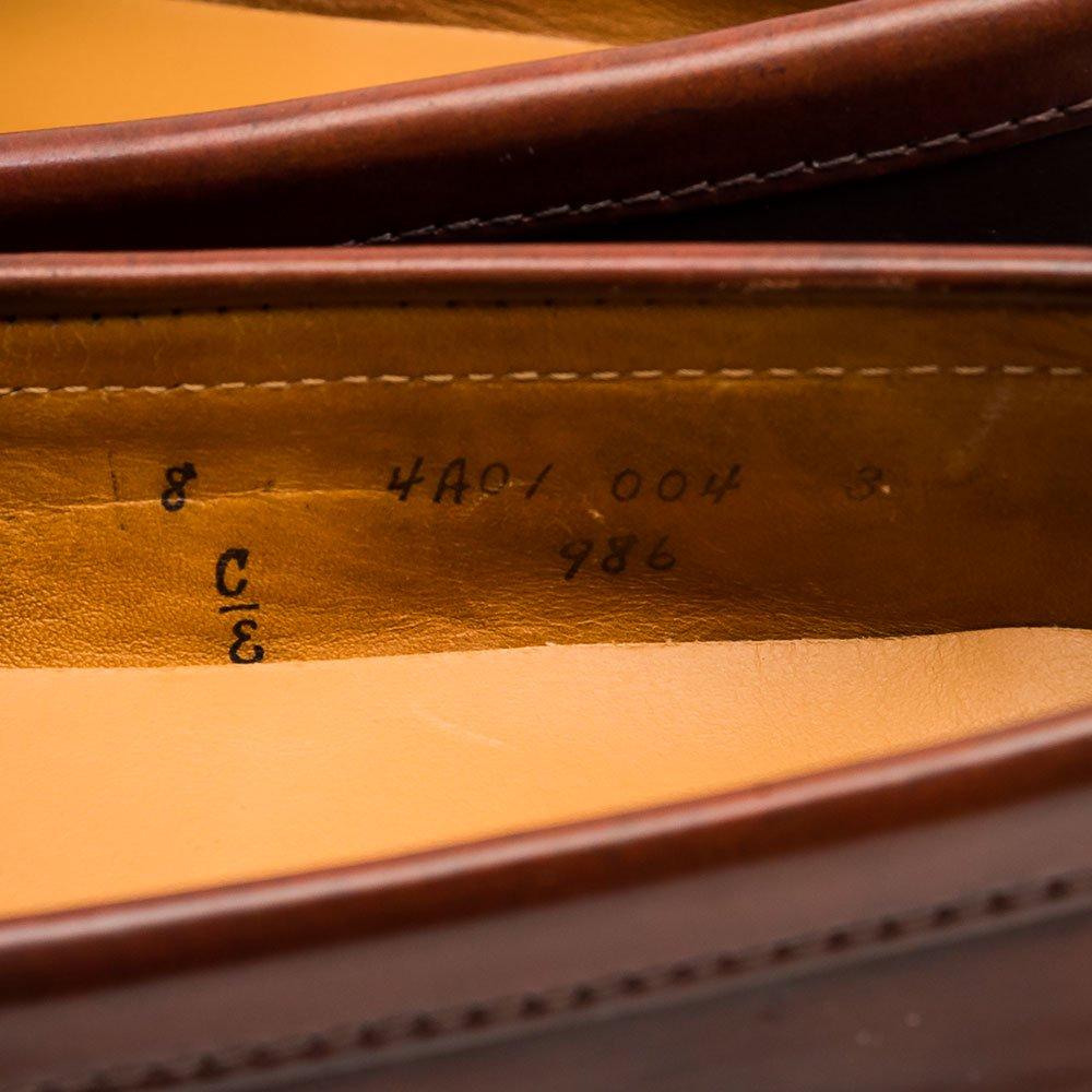 オールデン 986 コインローファー コードバン バーガンディ サイズ8E
