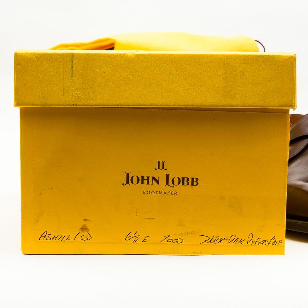 ジョンロブ ASHILL(アシール)シングルモンク ダークオーク 黄色箱 サイズ6.5E