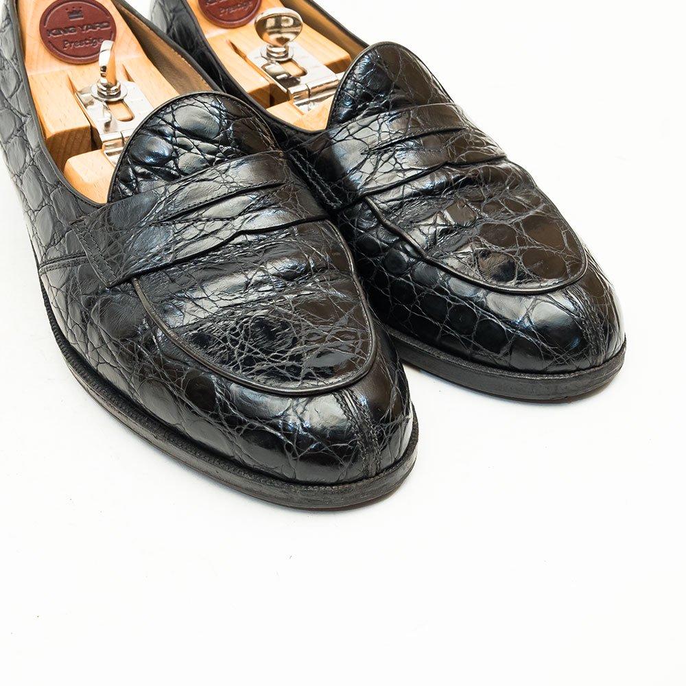 タニノクリスチー コインローファー クロコダイル ブラック サイズ6