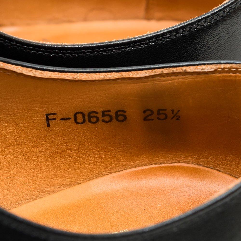 スコッチグレイン F-0656 ストレートチップ ブラック サイズ25.5EEEE