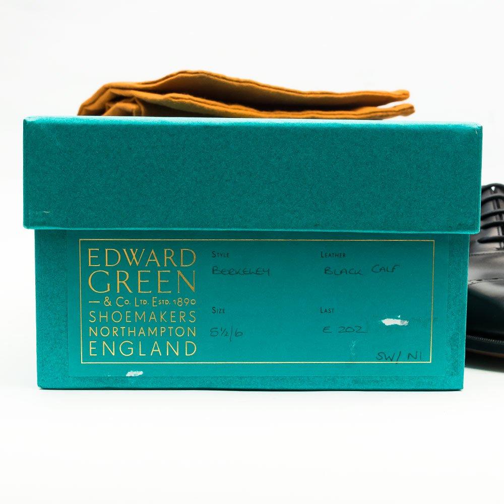 エドワードグリーン BERKELEY(バークレー)パンチドキャップトゥ ブラック サイズ5.5E