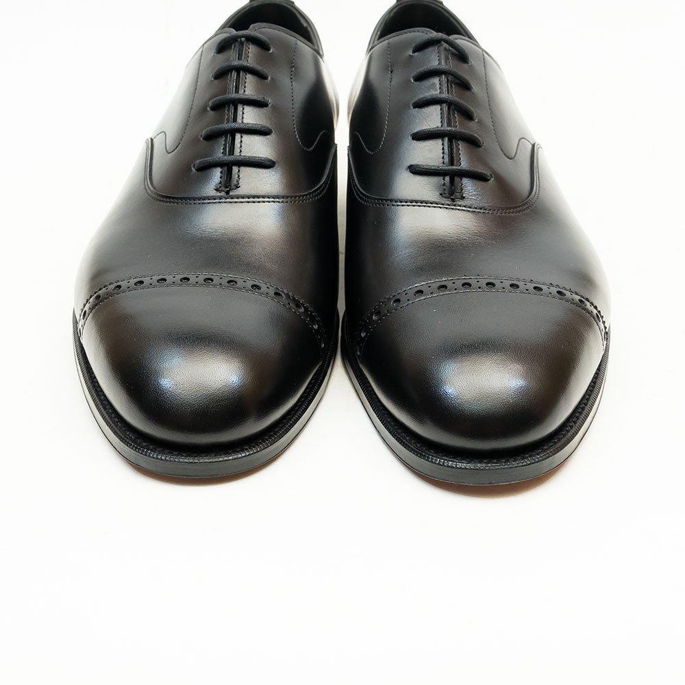 エドワードグリーン BERKELEY(バークレー)パンチドキャップトゥ ブラック サイズ8E