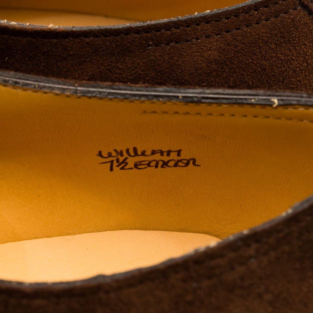 ジョンロブ WILLIAM(ウィリアム)ダブルモンク ダークブラウン スエード サイズ7.5E