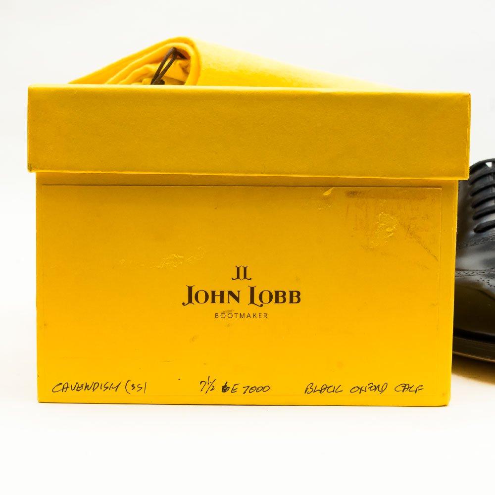 ジョンロブ CAVENDISH(キャベンディッシュ)フルブローグ ブラック プレステージ 黄色箱 サイズ7.5E