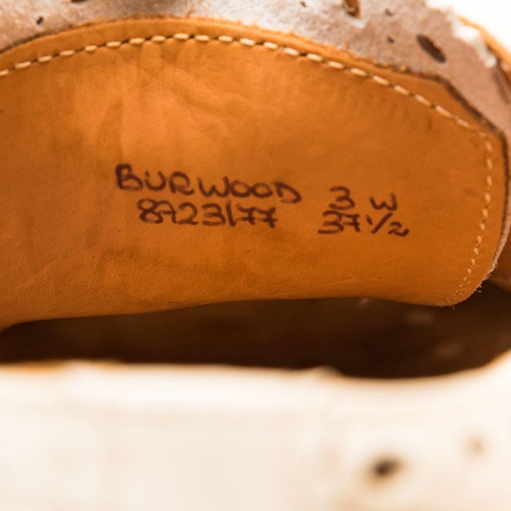 チャーチ BURWOOD(バーウッド)内羽根ウイングチップ ホワイト サイズ37.5