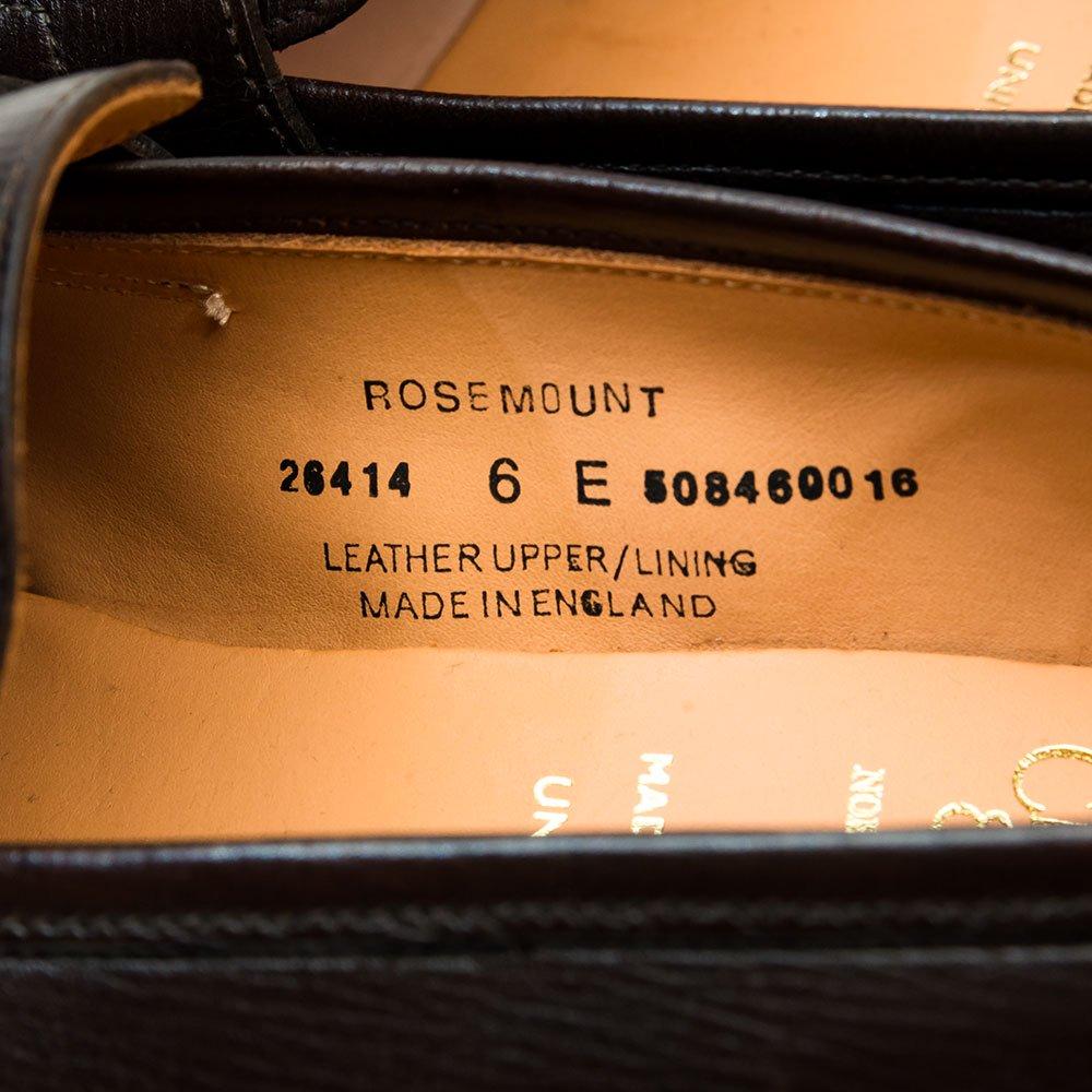 クロケット&ジョーンズ Rosemount(ローズマウント) コインローファー ダークブラウン ウィローグレイン UNITED ARROWS別注 サイズ6E