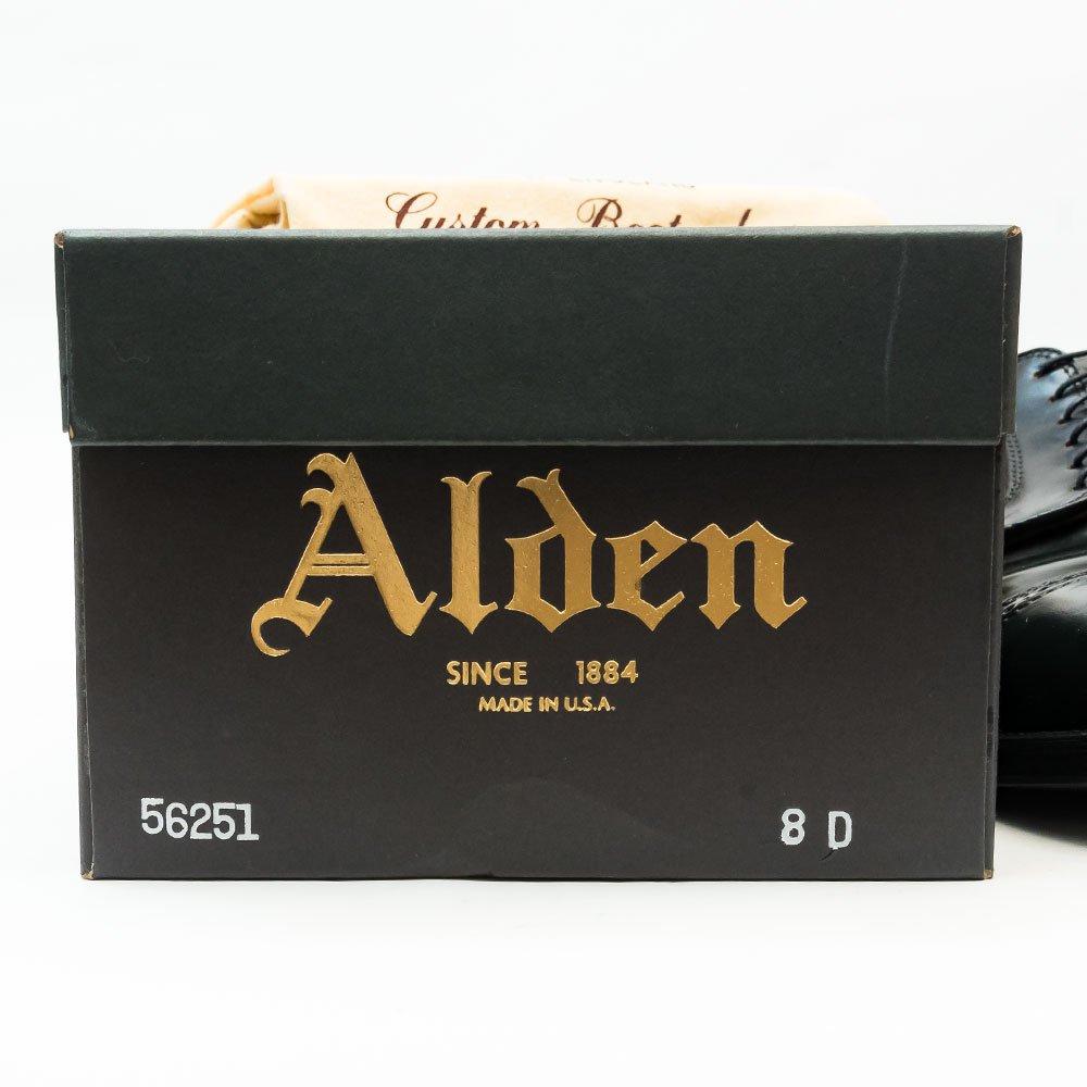 オールデン 56251パンチドキャップトゥ コードバン ブラック サイズ8D