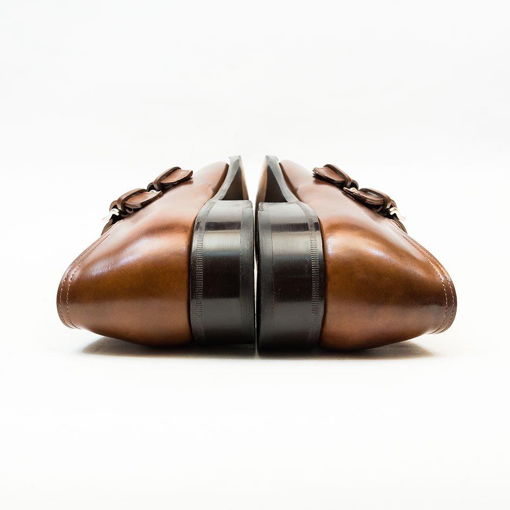 ジョンロブ CHAPEL(チャペル)ダブルモンク ミュージアムカーフ パリジャンブラウン サイズ6D