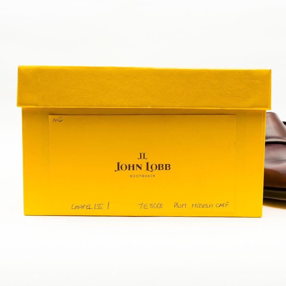 ジョンロブ CHAPEL(チャペル)ダブルモンク プラム ミュージアムカーフ 黄色箱 サイズ7E