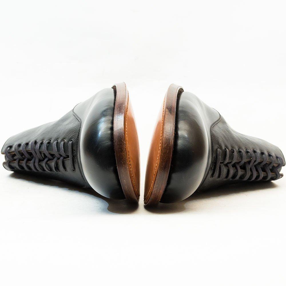 フォルメ fm-14 バルモラル レースアップ アンクルブーツ ブラック サイズ4