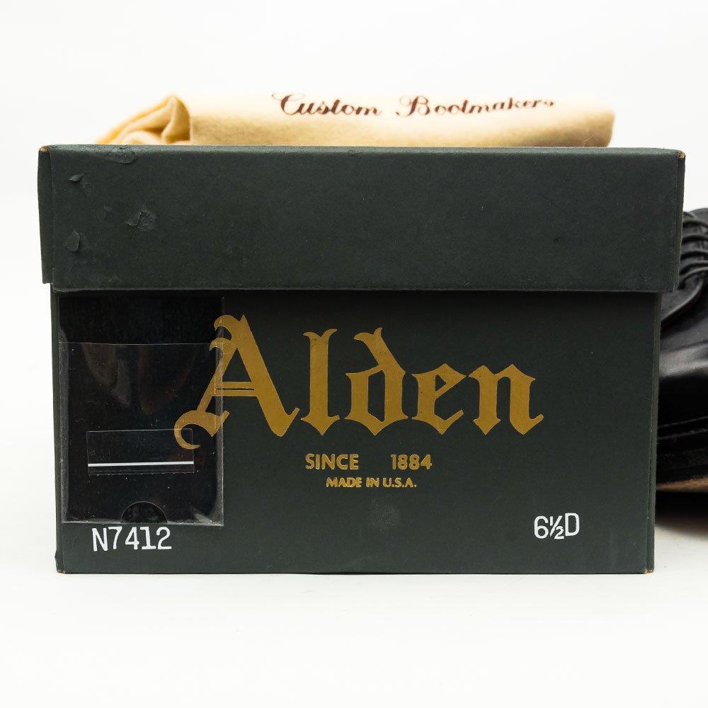 オールデン N7412 プレーントゥ ブラック アルパイン KENDALLラスト サイズ6.5D