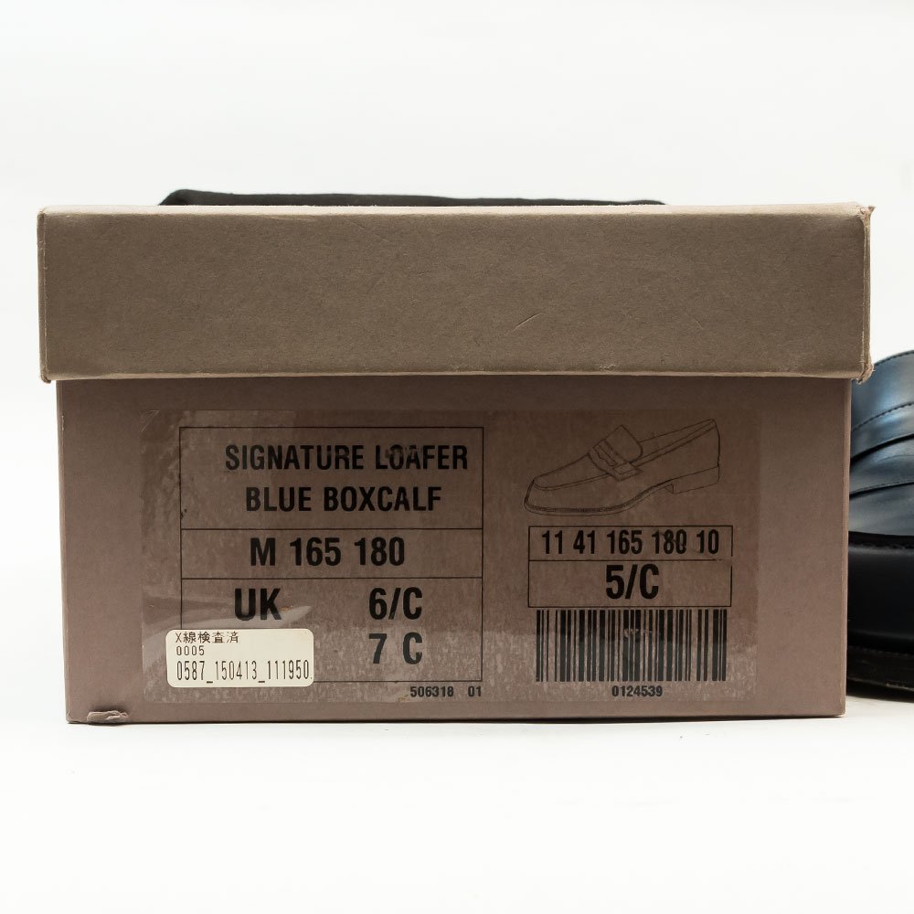 ジェイエムウエストン 180 シグニチャーローファー ブルーボックスカーフ サイズ5.5C